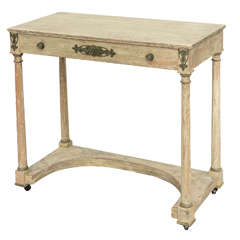 Painted, French Empire Console Table