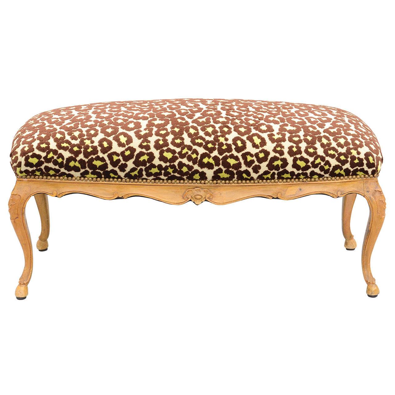 Louis XV Style Upholstered Bench