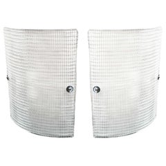 Pair Of Large Modern Curved Sconces