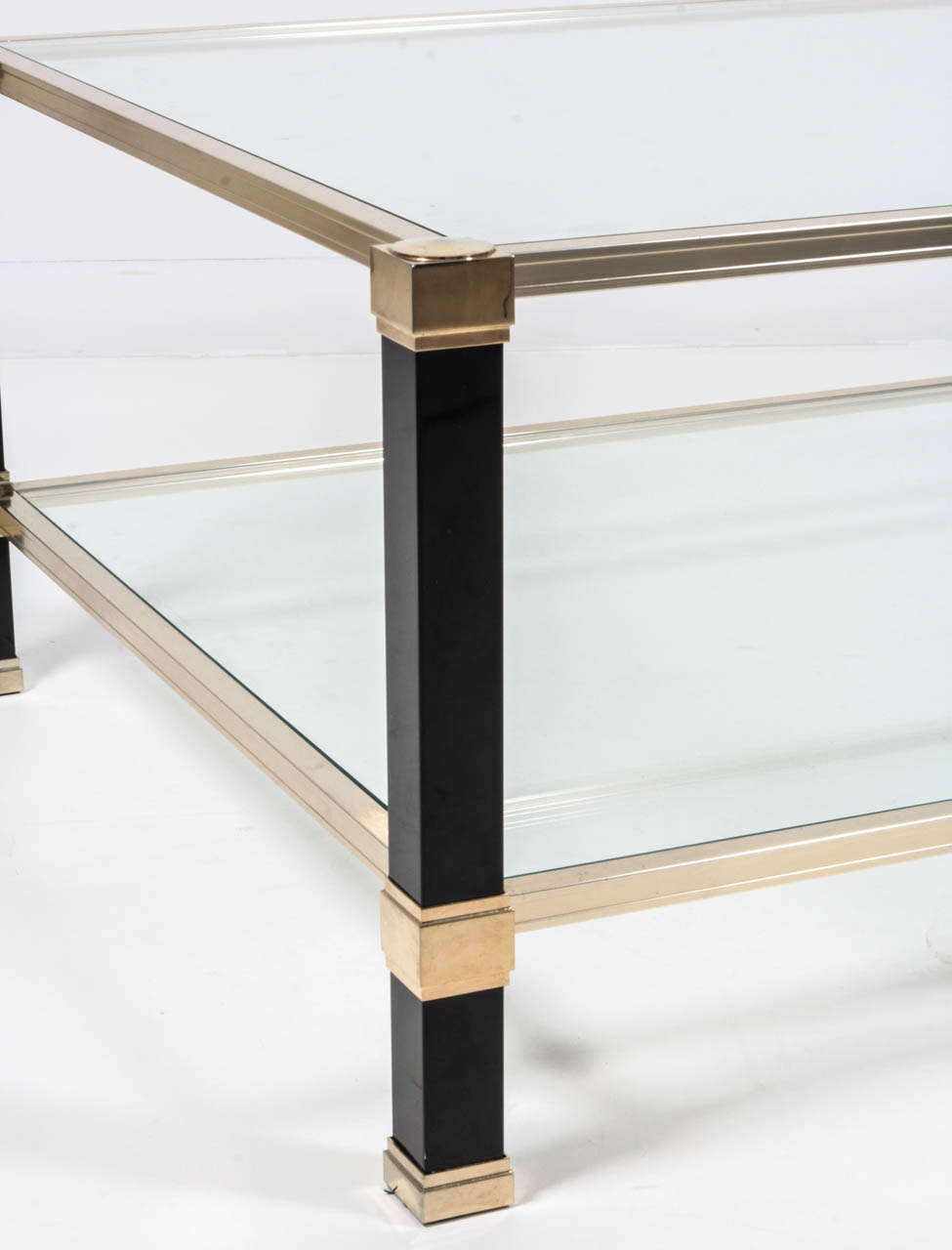Pierre Vandel Black Lucite Coffee Table At 1stdibs