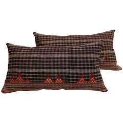 Rajastani Black & White Pillows with Multi Color Embroidery