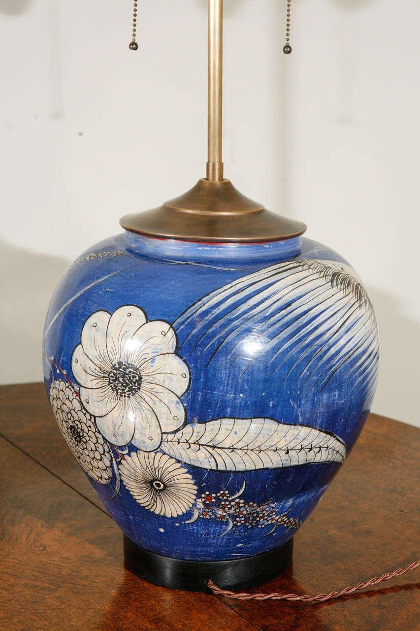 Pair Of Tonola Mexican Vase Lamps At 1stdibs