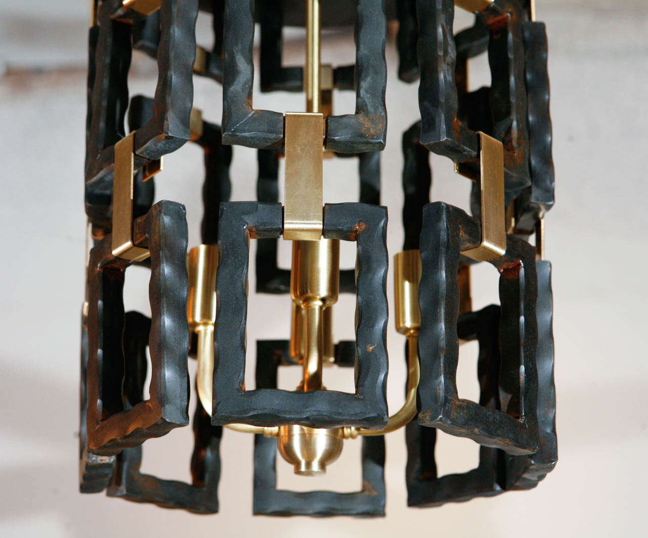 Paul Marra Link Fixture in Brass and Oil Rubbed Bronze 3