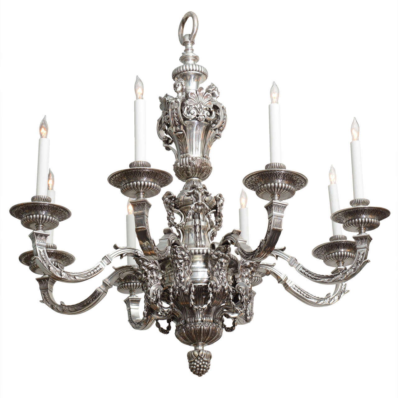 An elegant french silvered bronze regence style chandelier circa 1880 at 1stdibs - Circa lighting chandeliers ...