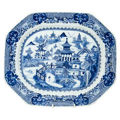 18th Century Chinese Blue and White Porcelain Platter