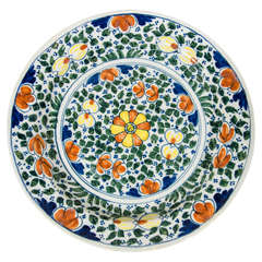 Colorful Polychrome Dutch Delft Charger