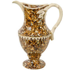 Mid-19th Century Apt Ware Mixed Earths Pitcher