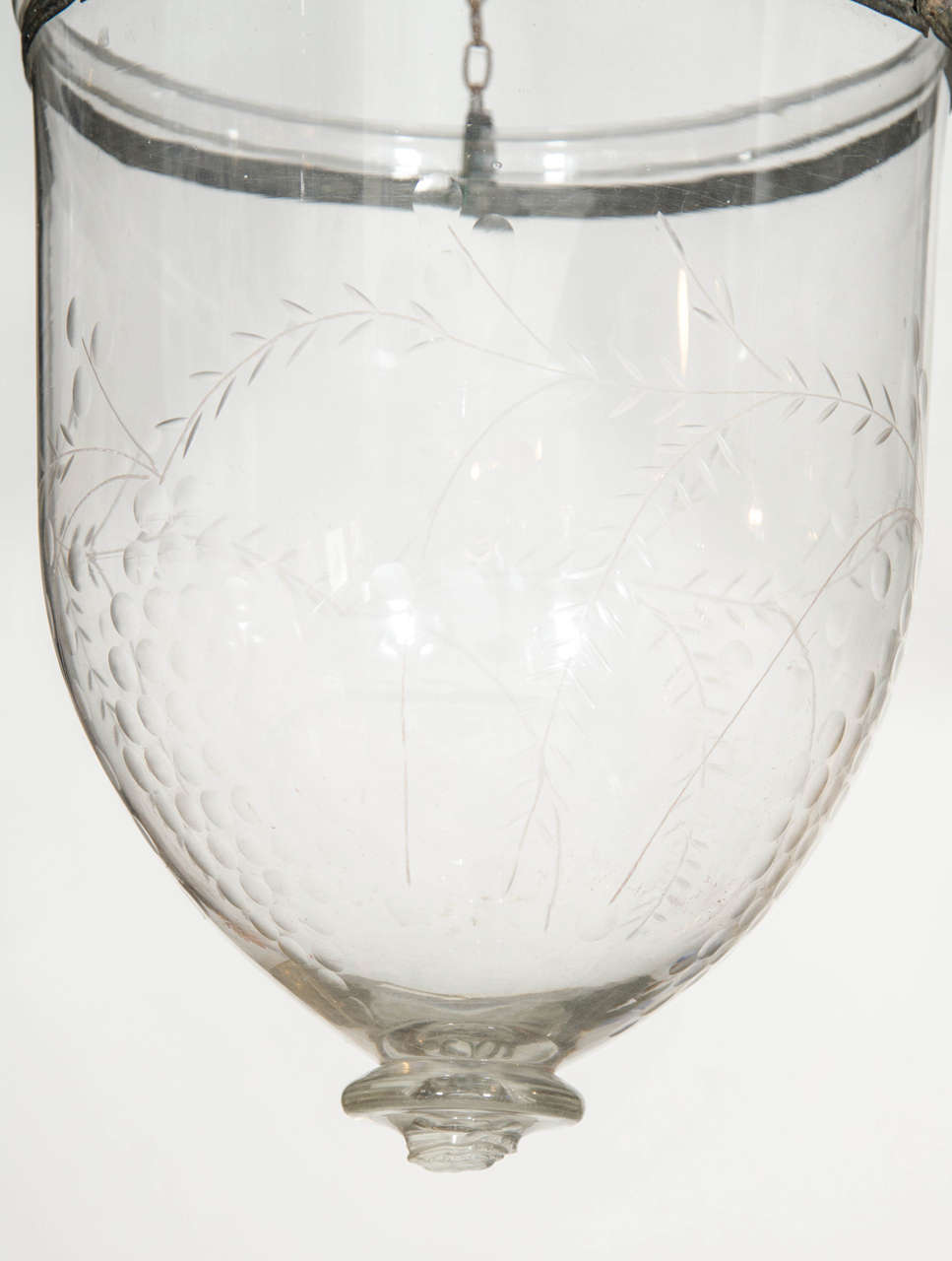 Antique English Glass Bell Lantern Made circa 1880 In Good Condition For Sale In New York, NY