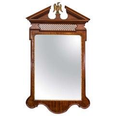 George II Mahogany Fret Panel Mirror