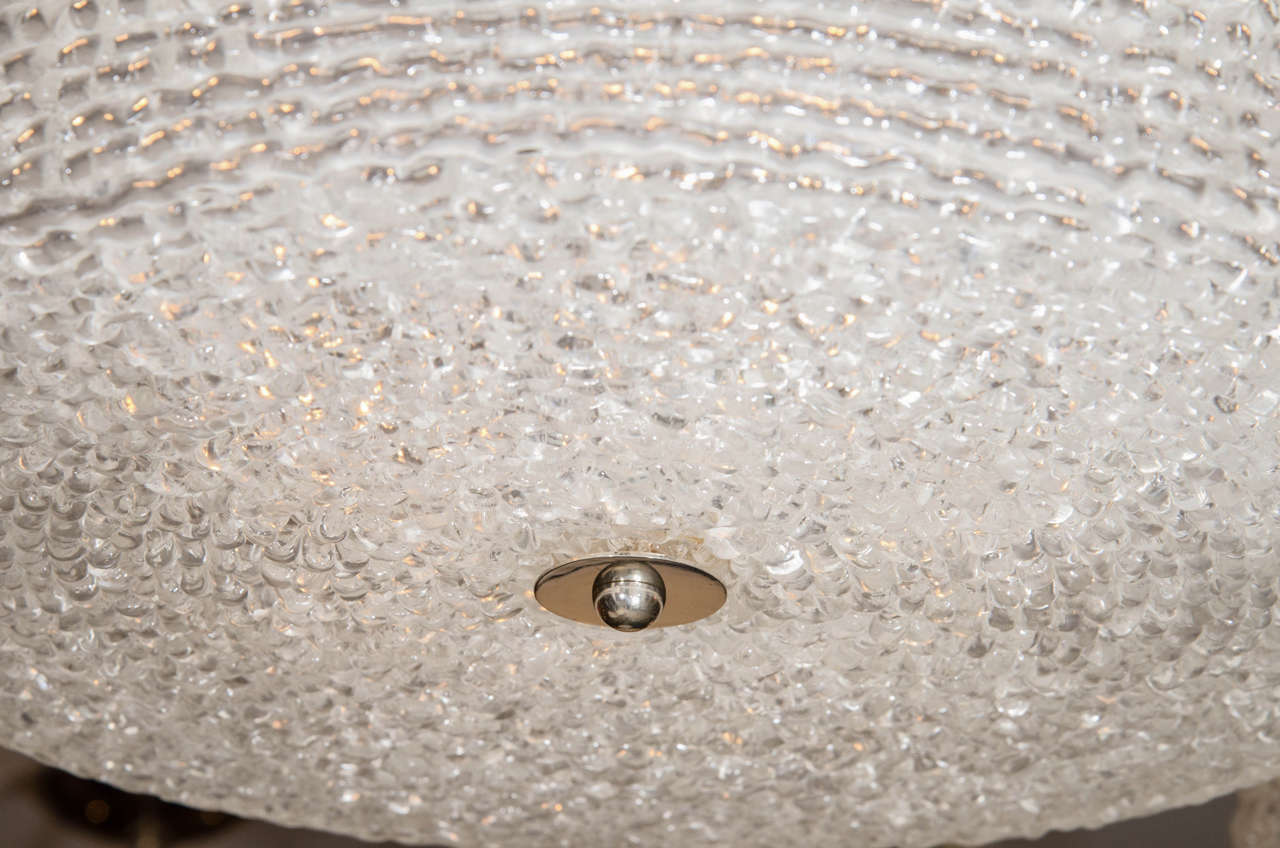 Mid-Century Modern Textured Lucite Ceiling Fixture For Sale