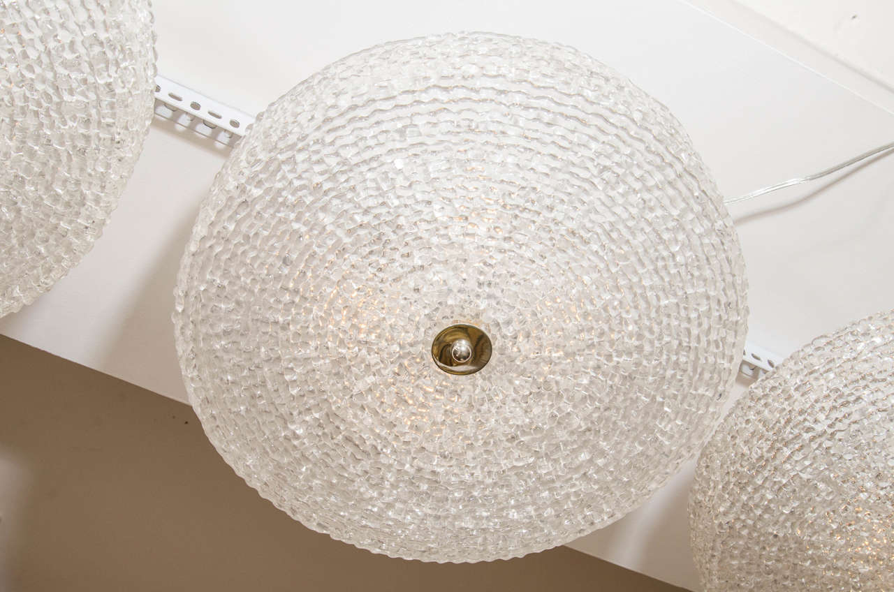 Textured Lucite Ceiling Fixture In Good Condition For Sale In New York, NY