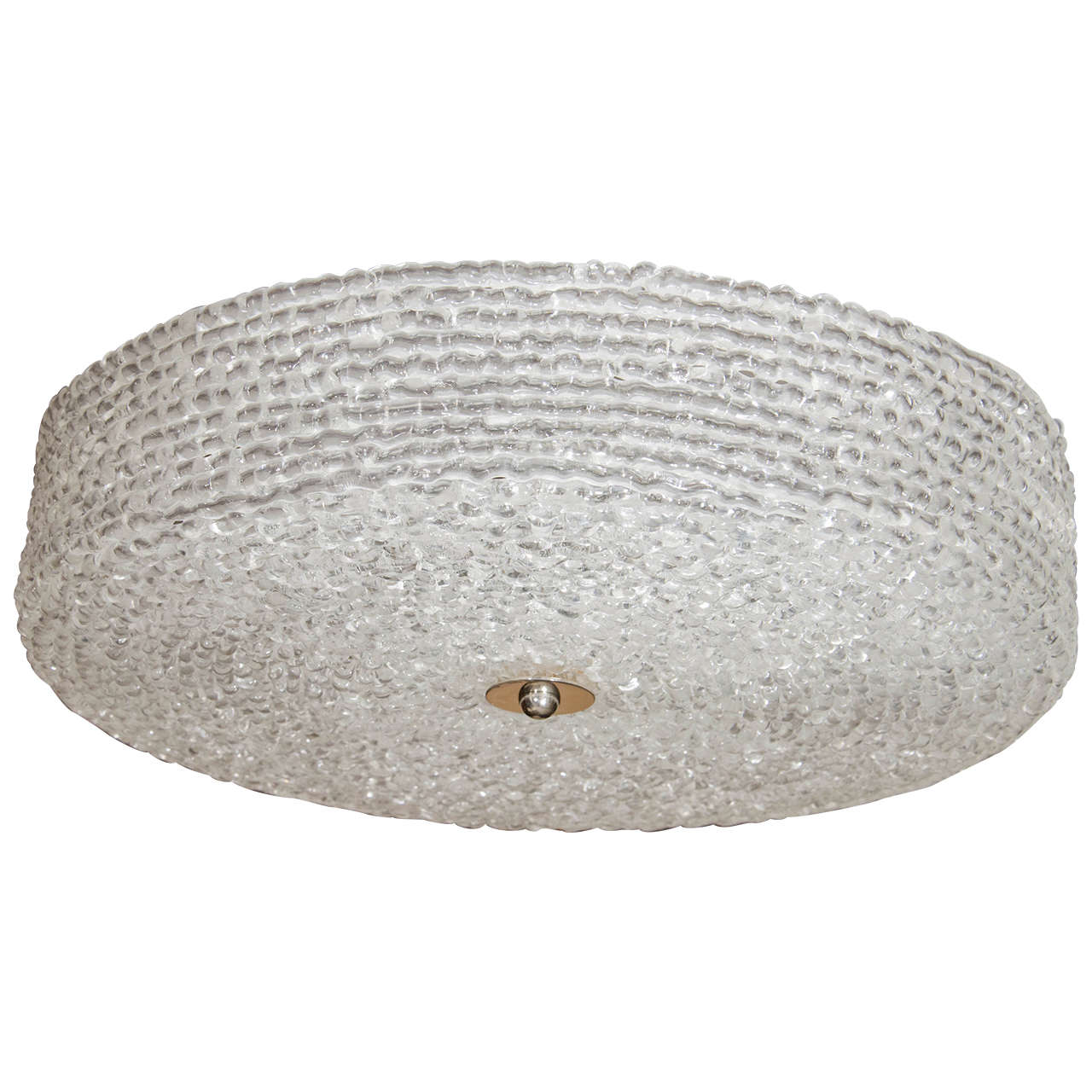 Textured Lucite Ceiling Fixture For Sale