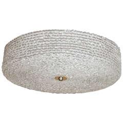 Textured Lucite Ceiling Fixture
