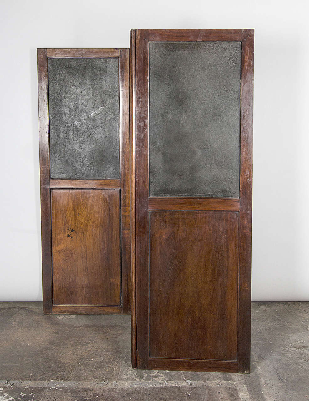 Wood and Leather Room Divider For Sale at 1stdibs