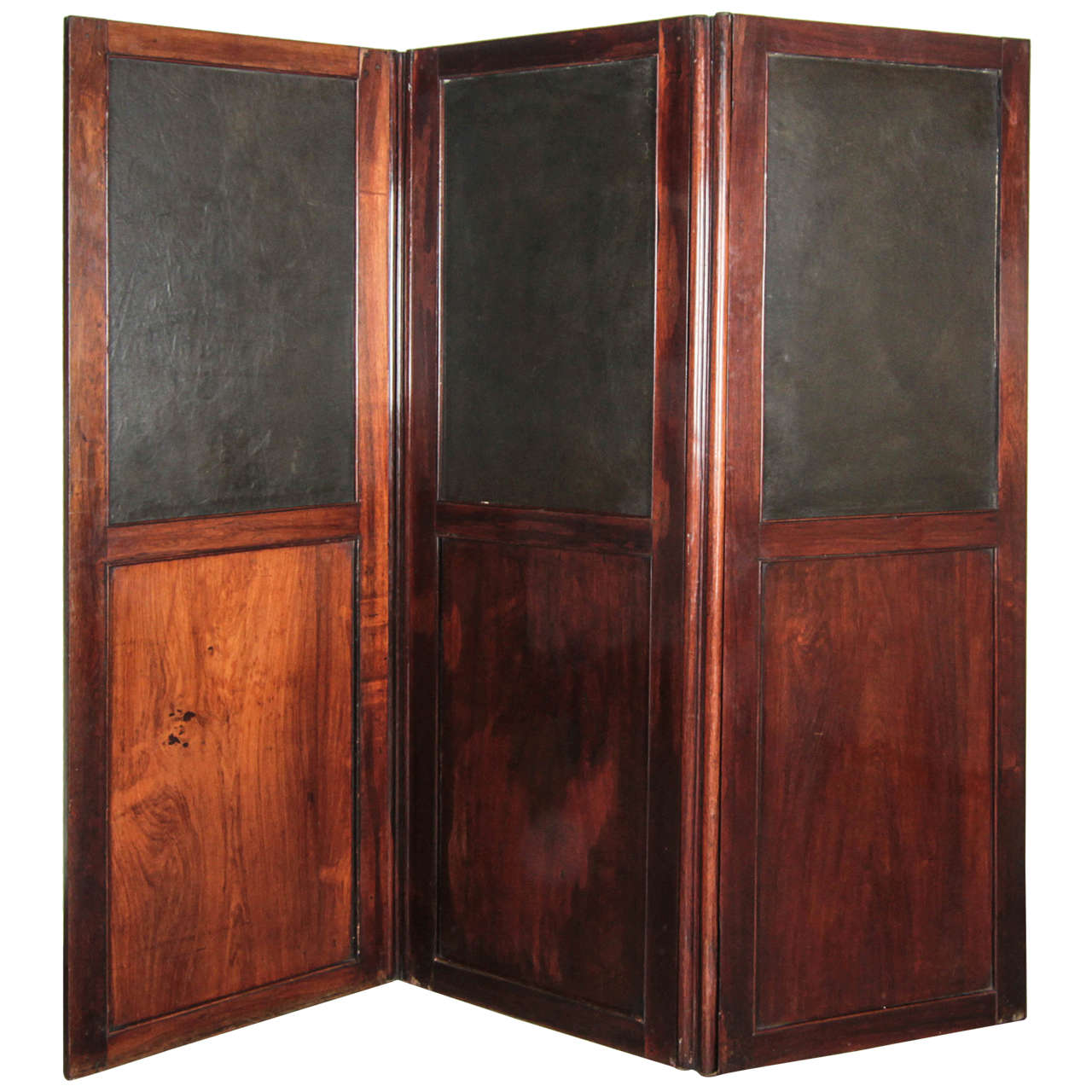 Wood and Leather Room Divider