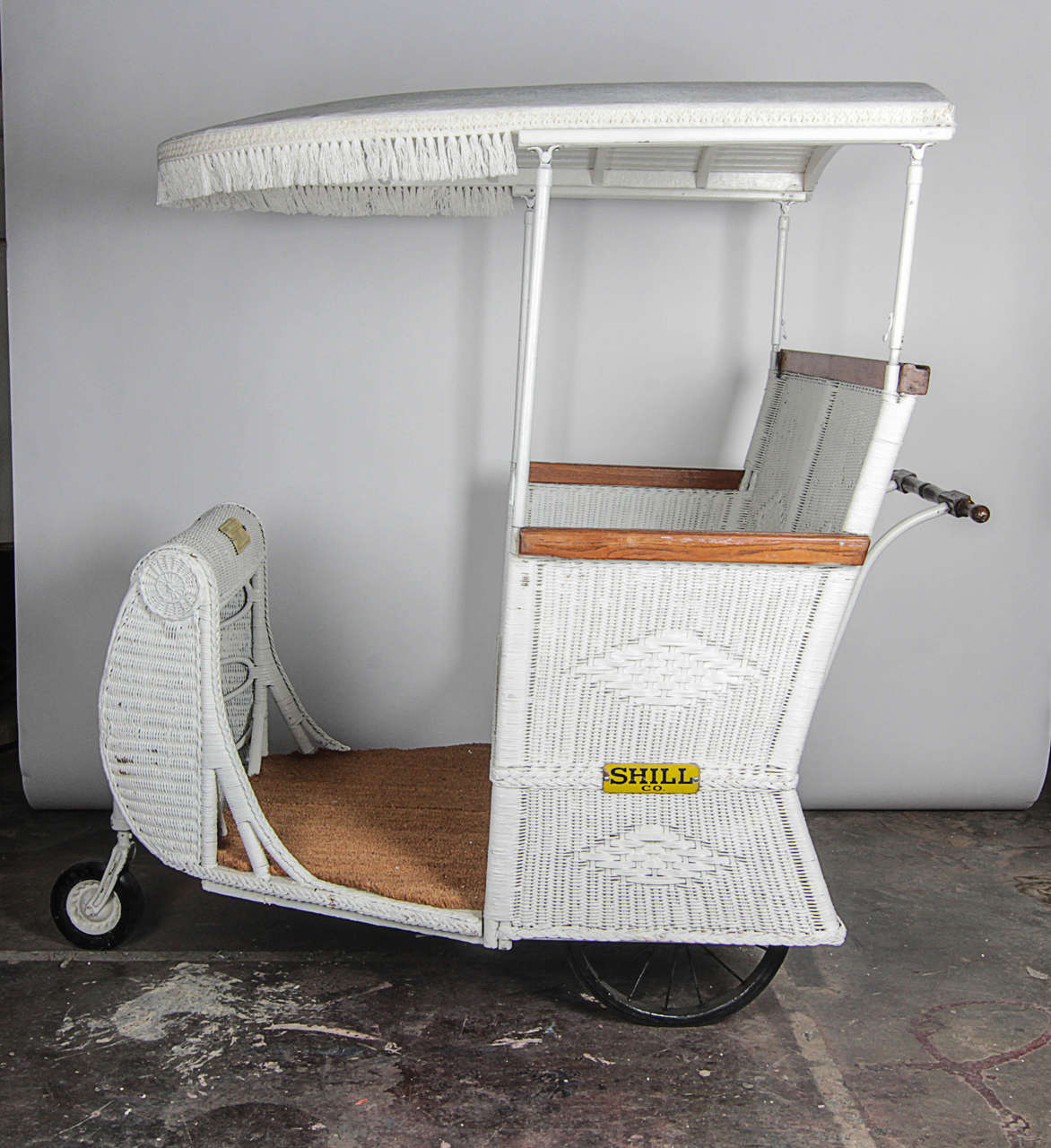 Atlantic City Wicker Rolling Chair 217 by Shill For Sale at 1stdibs
