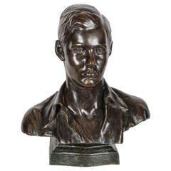 Bronze Bust of a Young Man