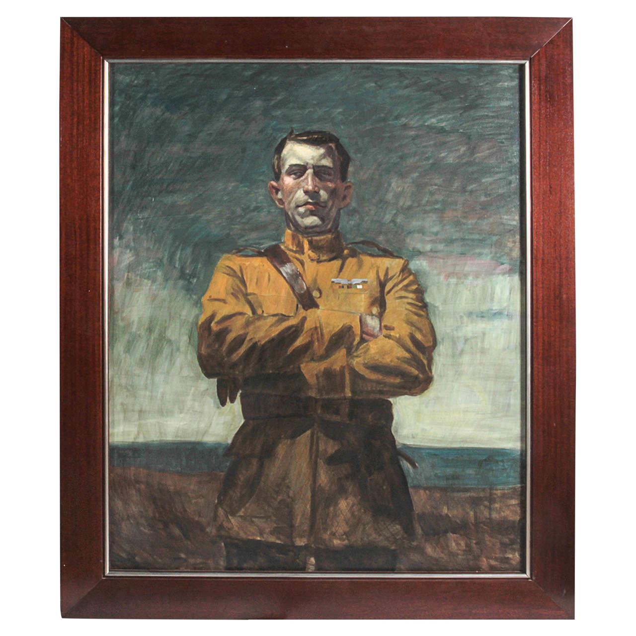 Untitled Man in Uniform by Mark Beard, Oil on Canvas