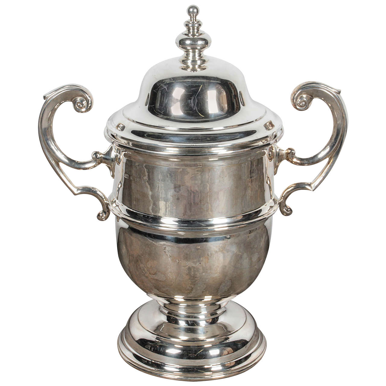 1930 English Silver Trophy Cup with Lid