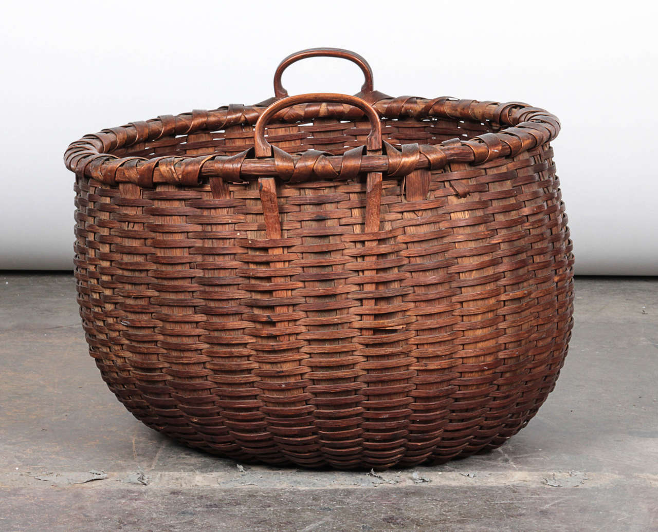 20th Century Woven Fruit Basket For Sale At 1stdibs