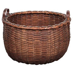 20th Century Woven Fruit Basket
