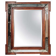 Art Deco Decorative Beveled Mirror