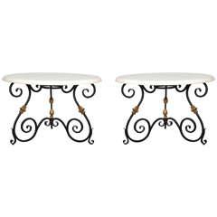 Pair of Ralph Lauren Duchess Wrought Iron Tables