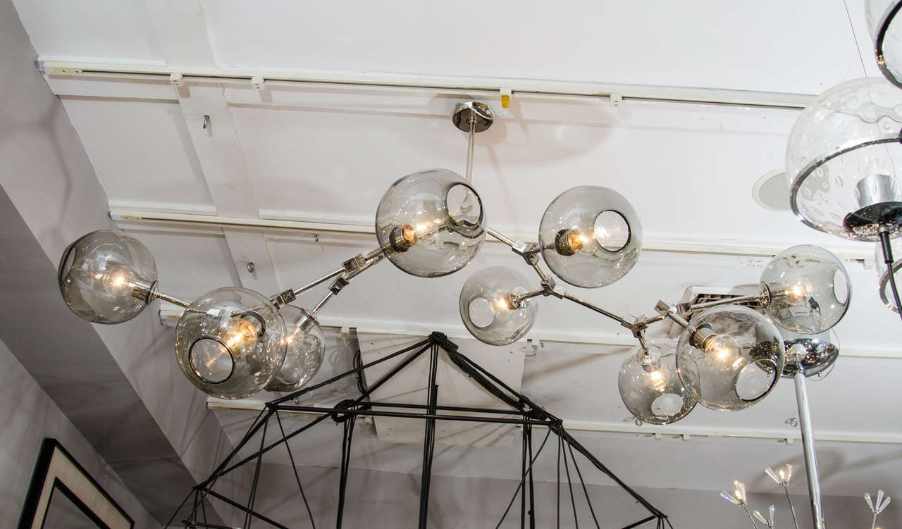 Custom nine globe branch fixture for sale at 1stdibs custom nine globe branch fixture aloadofball Image collections