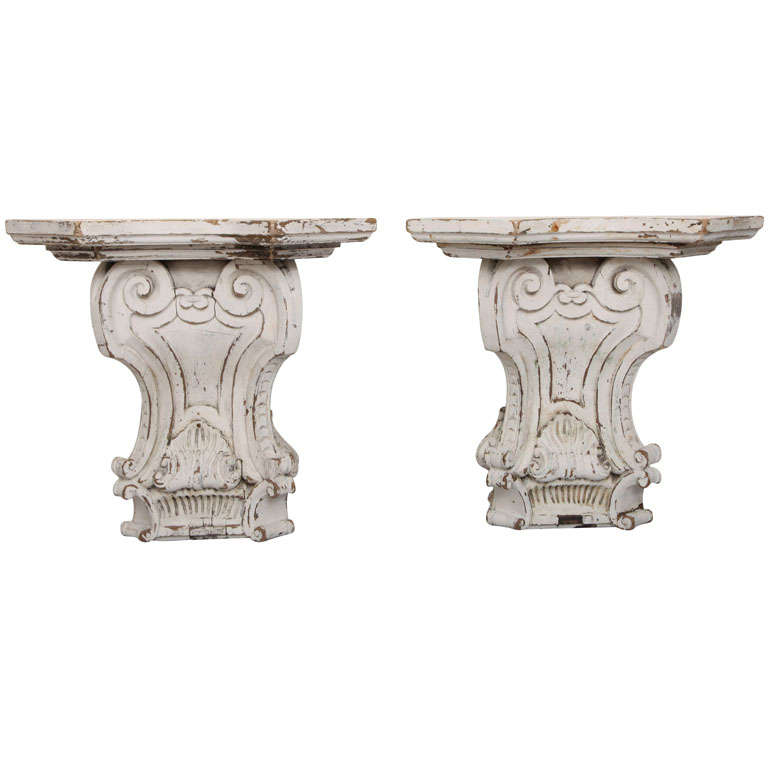 Pair of Architectural Wall Corbels