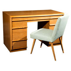 T.H. Robsjohn-Gibbings Desk and Chair
