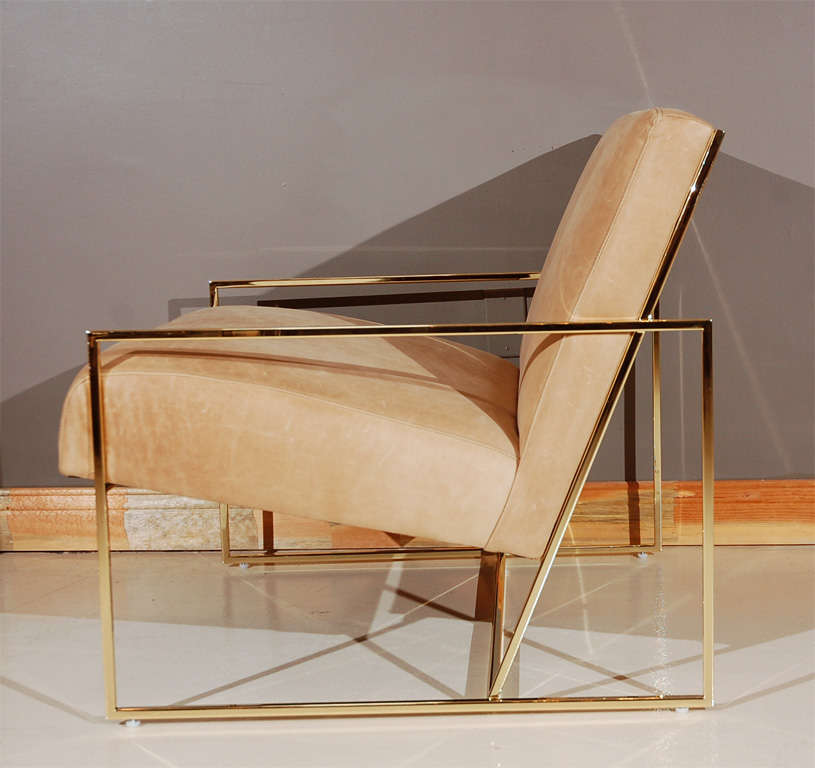 Brass Thin-Frame Chairs 2