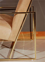 Brass Thin-Frame Chairs image 3