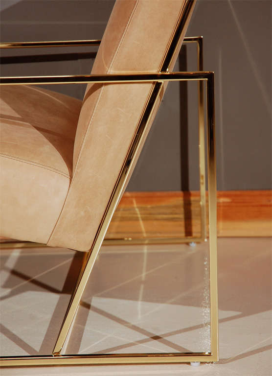 Brass Thin-Frame Chairs 3