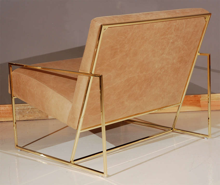 Brass Thin-Frame Chairs 4