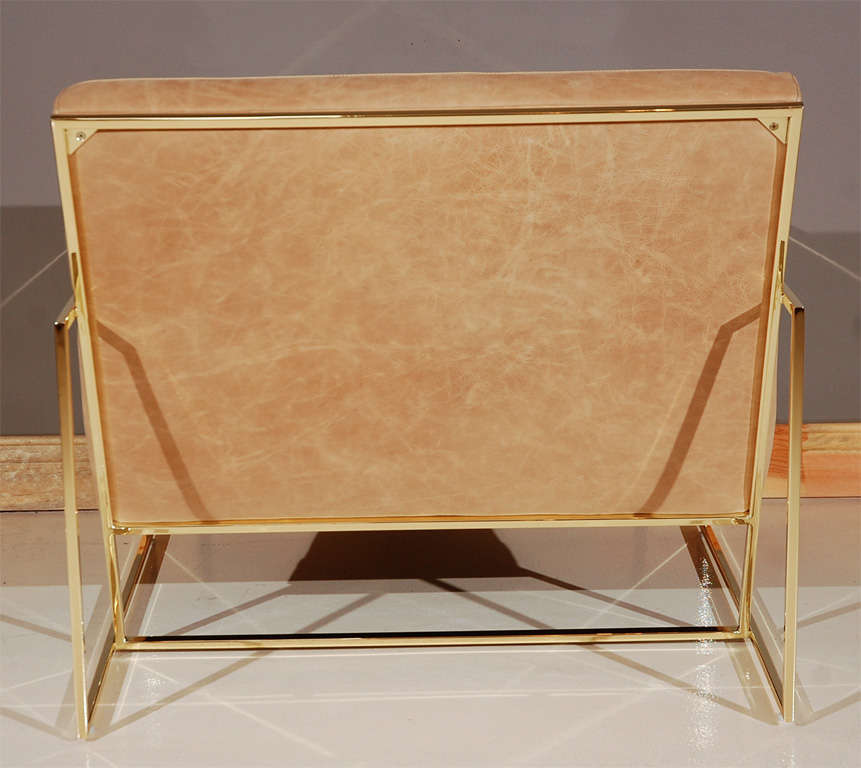 Brass Thin-Frame Chairs 5
