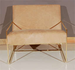 Brass Thin-Frame Chairs image 6