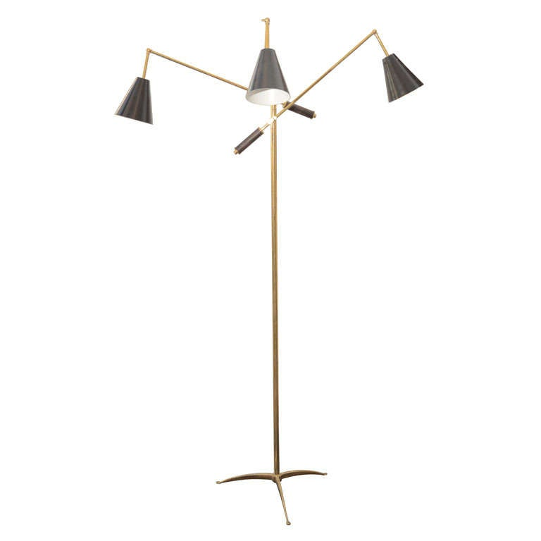 italian multi arms floor lamp by stilnovo at 1stdibs. Black Bedroom Furniture Sets. Home Design Ideas