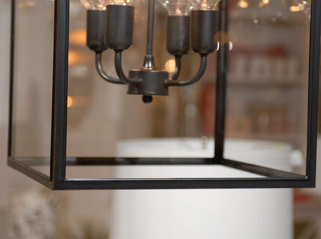 Unknown Square Glass Pendant For Sale