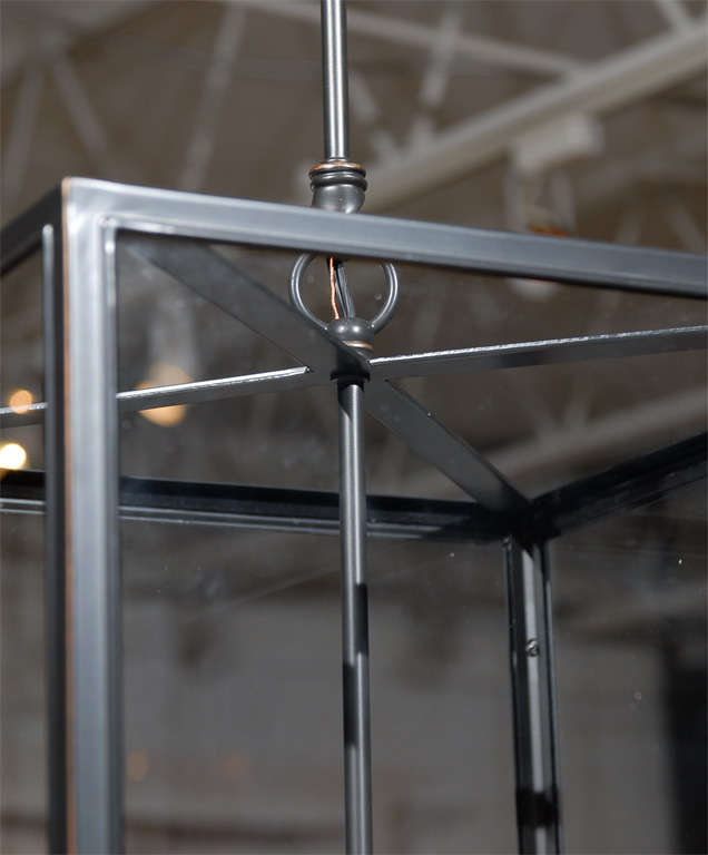 Square Glass Pendant For Sale 1