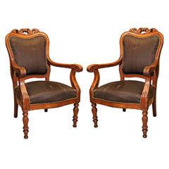 Pair  19th Century Salon Armchairs