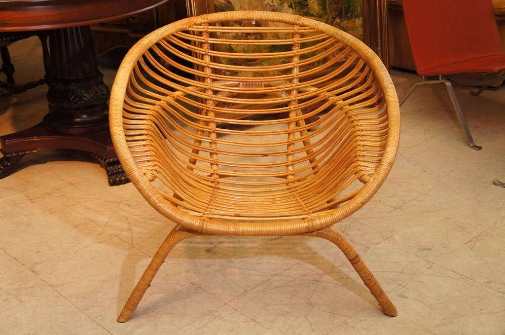 Round Bamboo Chair At 1stdibs