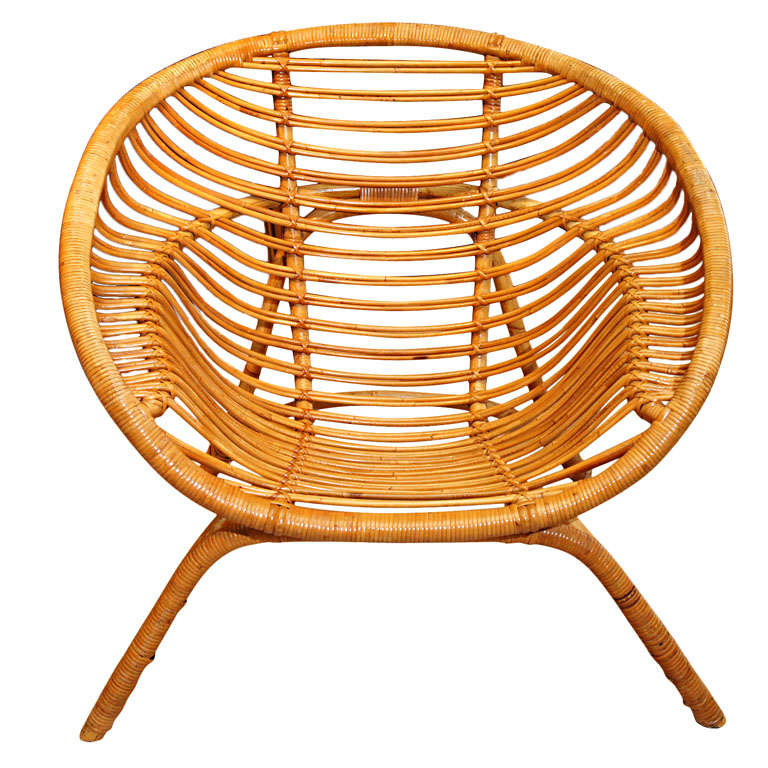Round Bamboo Chair For Sale