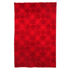 Mid-Century Modern Red Wool Rug
