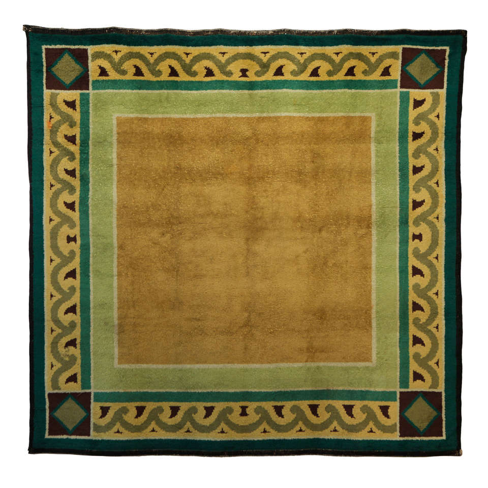 Square french art deco rug for Deco rugs carpet