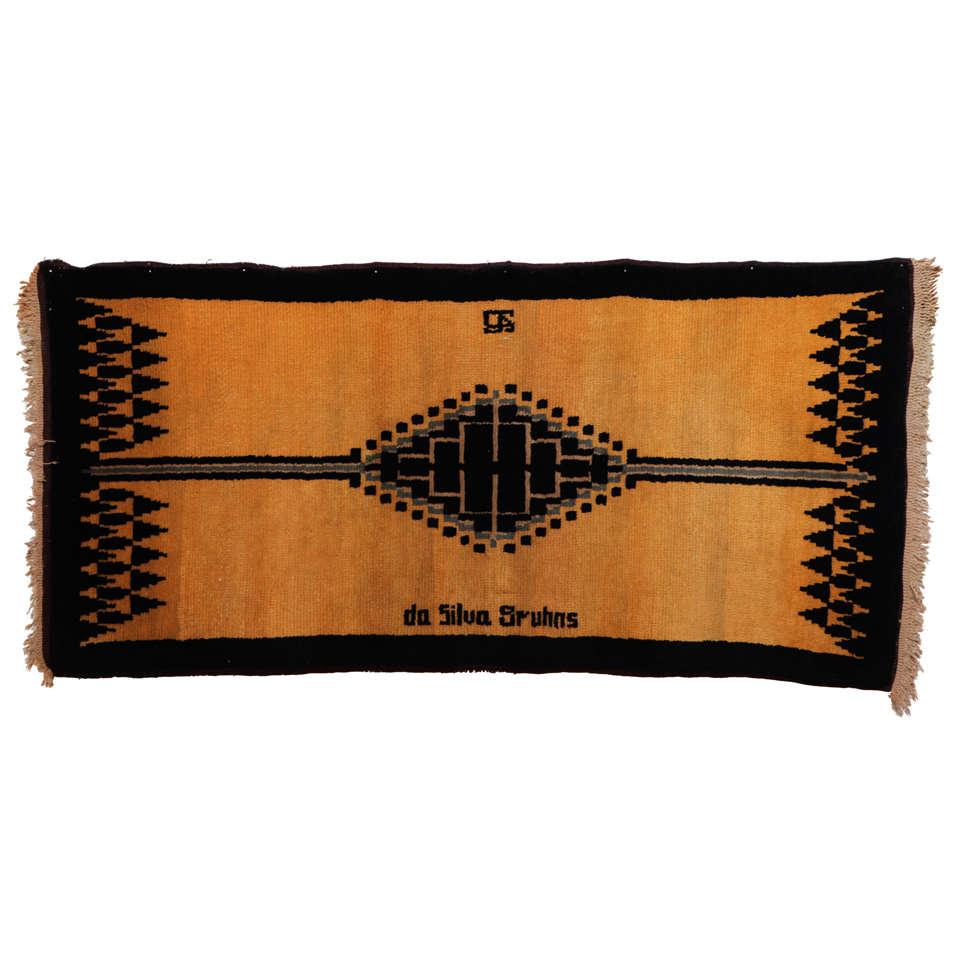 Art Deco Wool Rug by Ivan da Silva Bruhns, circa 1925