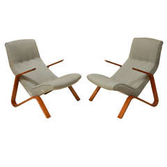Pair of Grasshopper Chairs By Eero Saarinen