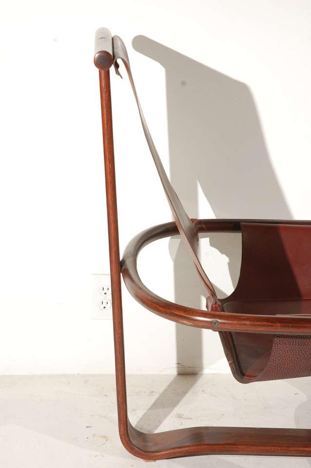Westnofa Vestlandske Bentwood And Leather Chairs At 1stdibs