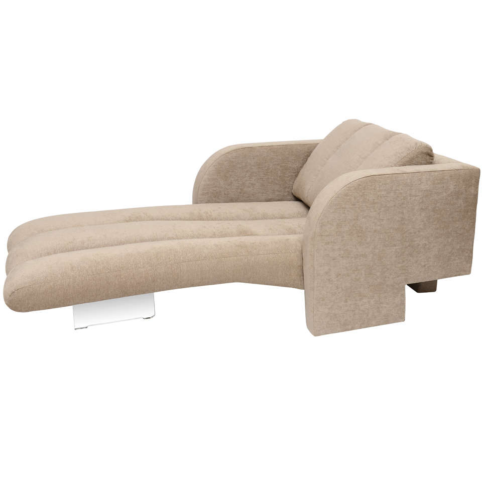 Chaise longue by vladimir kagan at 1stdibs for Chaise 70 cm