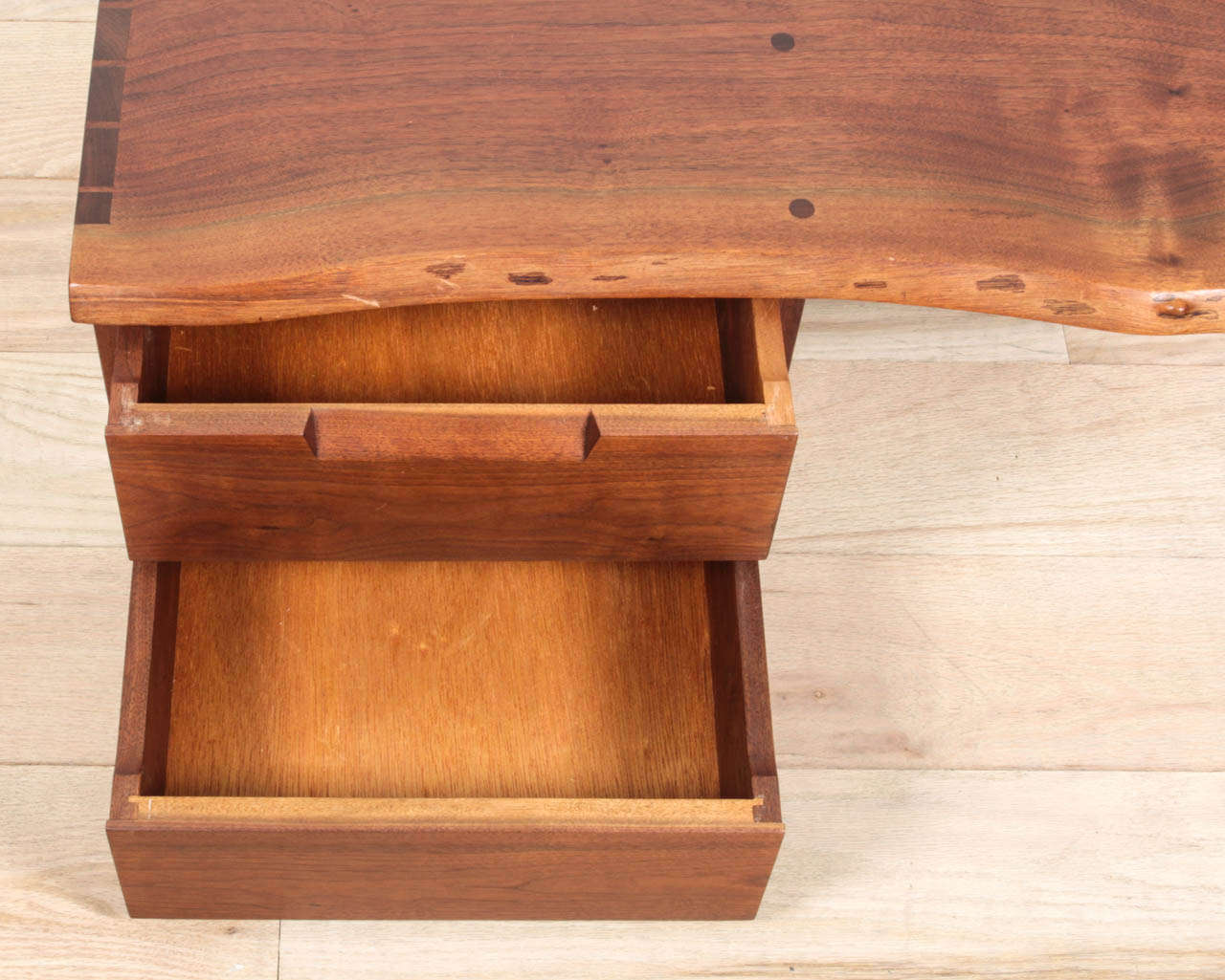 george nakashima wall mounted shelf with drawers for sale. Black Bedroom Furniture Sets. Home Design Ideas