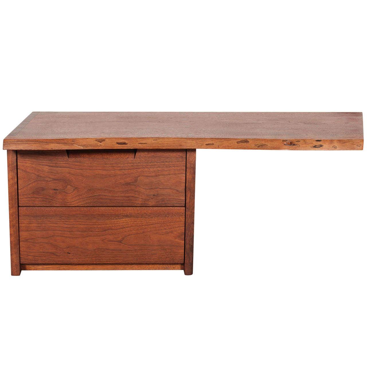 george nakashima wallmounted shelf with drawers 1